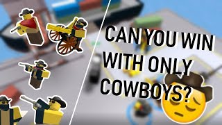 How far can you go with ONLY Cowboy's [ROBLOX Tower Defense Simulator]