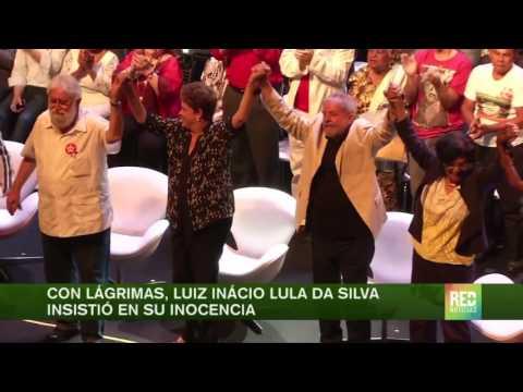 Con lágrimas, Luiz Inácio Lula da Silva insistió en su inocencia