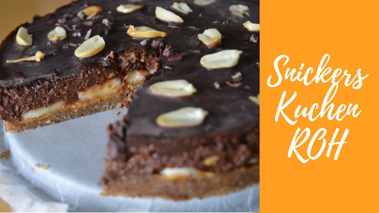 Snickers Kuchen Roh Vegan Youtube