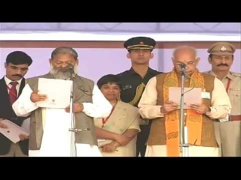PM Modi attending Manohar Lal Khattar's swearing-in ceremony as Haryana CM