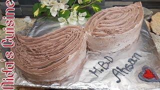 Moustache cake tutorial - How to make moustache cake - Nida