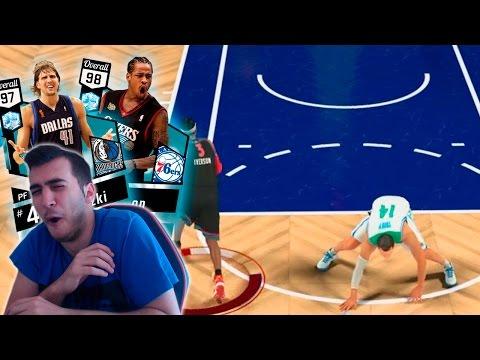 ¡ALLEN IVERSON Y DIRK NOWITZKI DIAMANTES! ¡LOS TOBILLOS! | NBA 2K17 MyTEAM GAMEPLAY