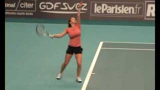Simona Halep Q Match1_2 Paris Indoors 2009