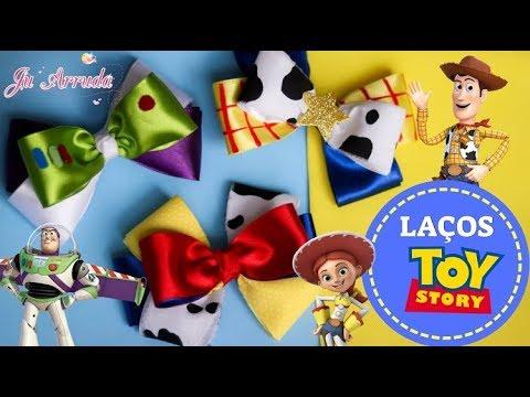 LAÇOS DE CABELO INSPIRADOS TOY STORY DIY