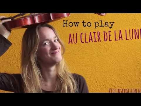 Au clair de la Lune (how to play) - Easy beginners song - Violin tutorial