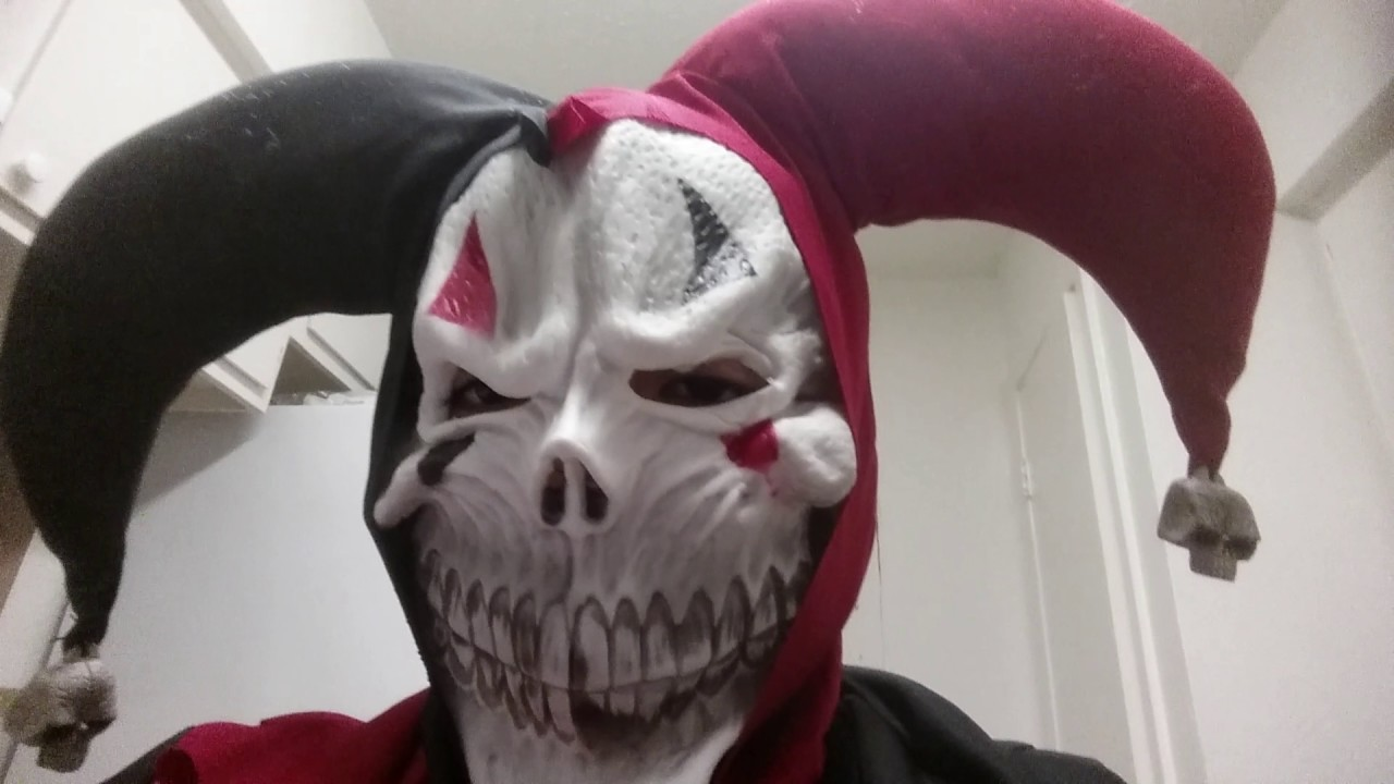 Scaring My Brother With Evil Jester Clown Costume