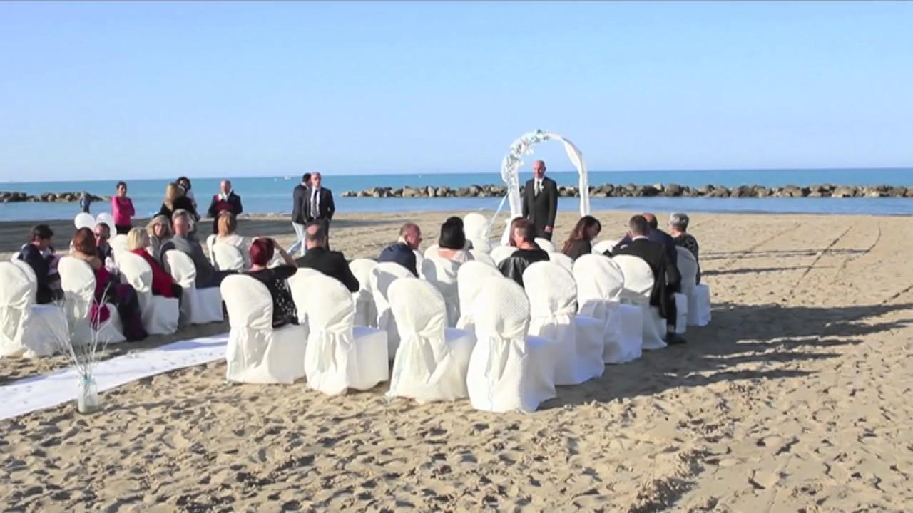 Matrimonio Spiaggia Favignana : Matrimonio in spiaggia all hotel promenade youtube