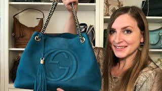 *REVIEW* Gucci Soho Tote in Teal Nubuck Leather