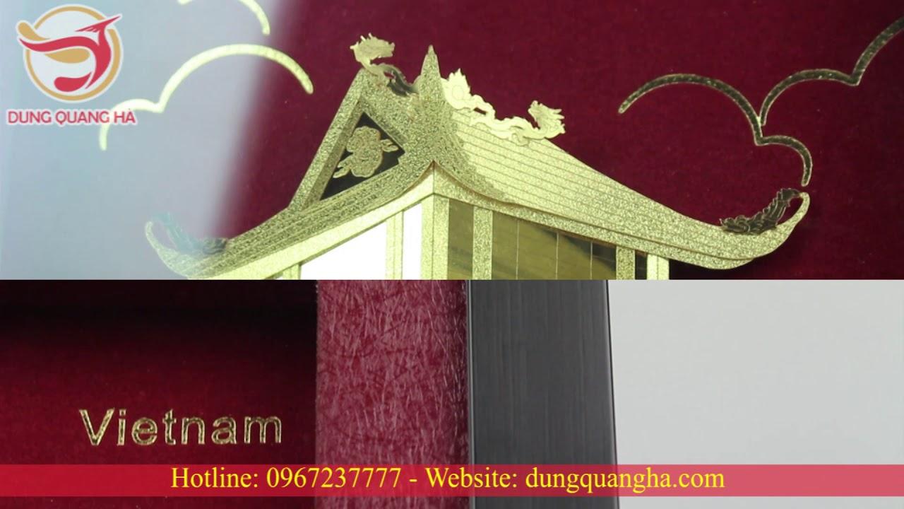 Tranh Chùa Một Cột, Tranh Lưu Niệm Đẹp, Ý Nghĩa – Đồ đồng Dung Quang Hà