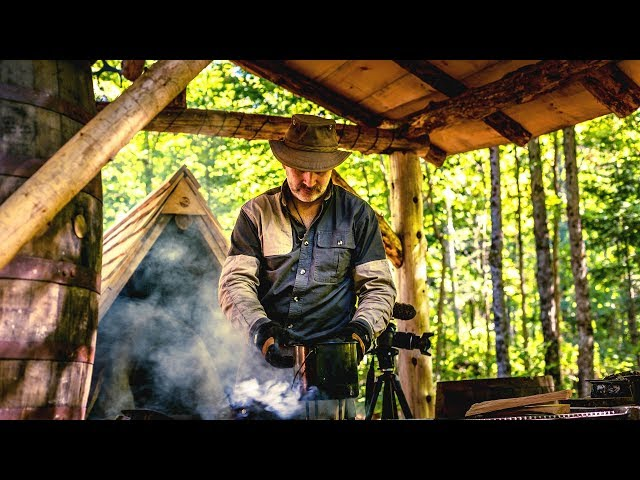 The Building Site for the Log Cabin Bathhouse | Wilderness Sauna