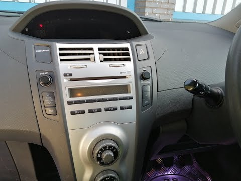 Toyota Yaris 2005 to 2015 how to remove factory radio & fit double din radio