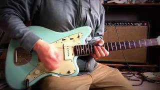 1964 Daphne sonic blue Fender jazzmaster original custom color demo through 1964 Vibroverb 1963 1962
