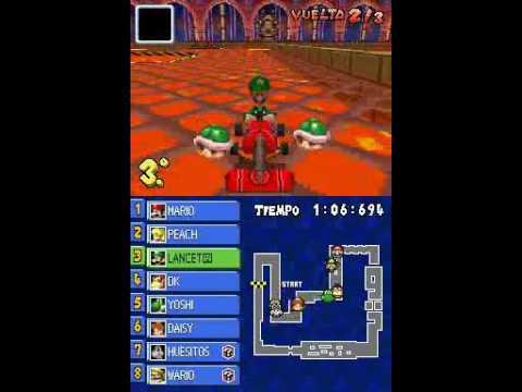 Mario Kart Ds Repeticion 7 Gba Bowser Castle 2 Luigi Youtube