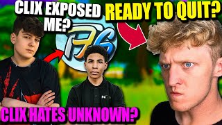 Clix wants a CUT of my VIDEOS..? The TRUTH about Unknown & Clix! Tfue almost DONE with Fortnite?