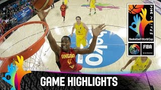 Australia v Angola - Game Highlights - Group D - 2014 FIBA Basketball World Cup