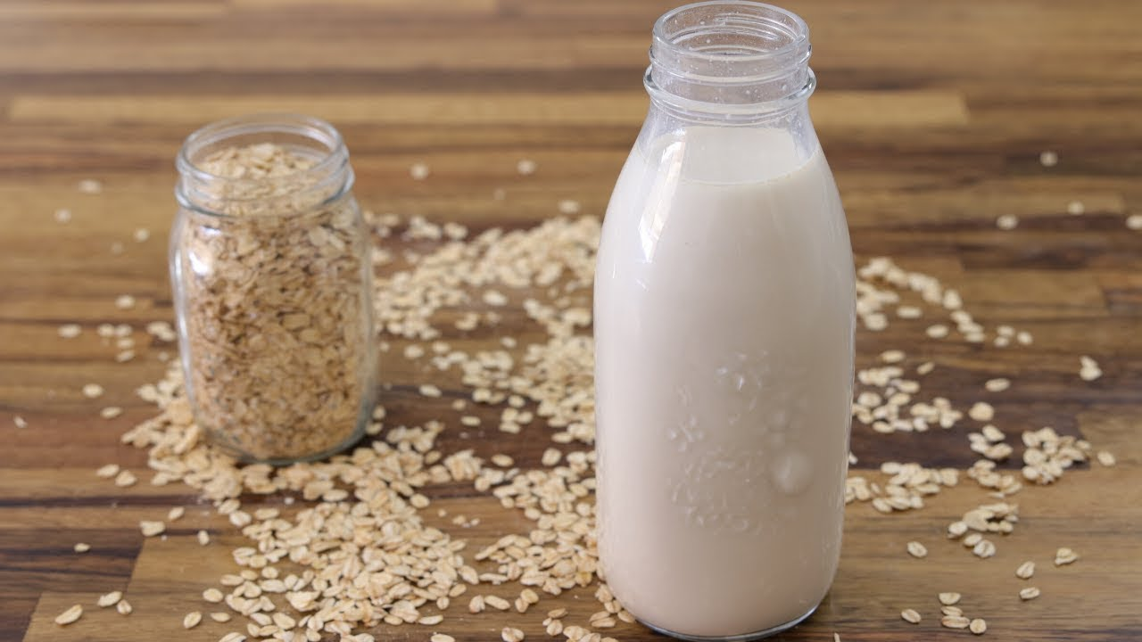 How To Make Oat Milk Homemade Oat Milk Recipe Youtube