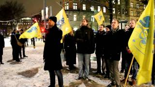 SDU:s Christian Westling sjunger Kungssången