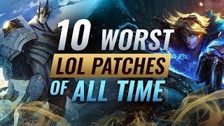 10 ХУДШИХ патчей Лиги Легенд! Перевод видео от ProGuides.