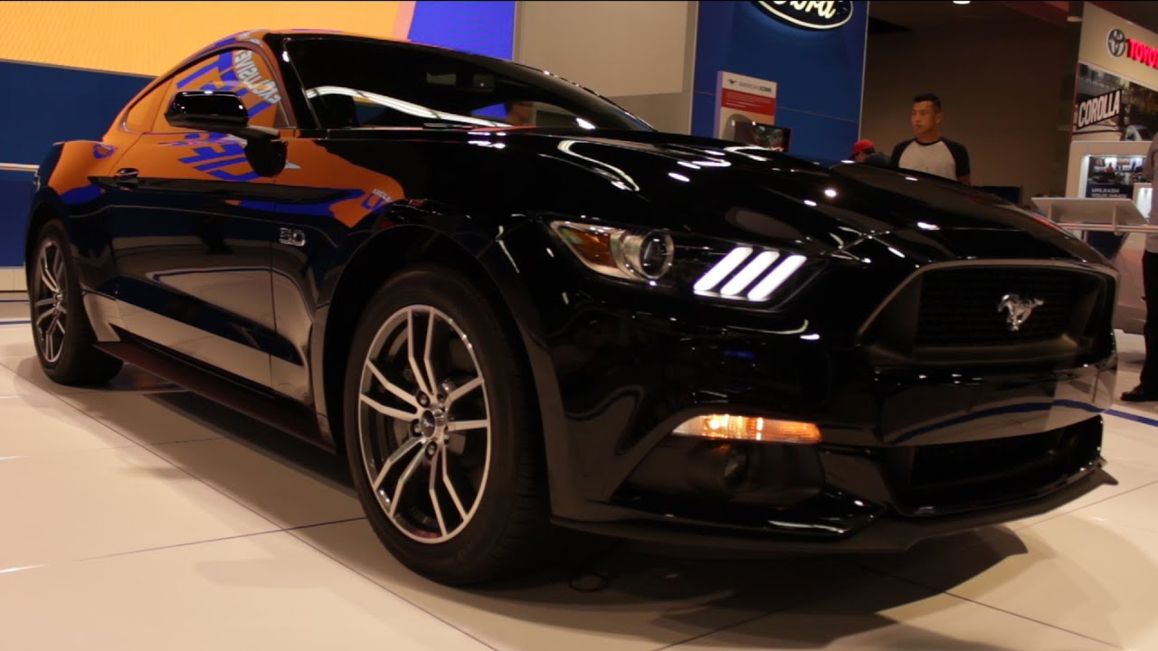 2015 ford mustang gt black oc auto show 2014 youtube