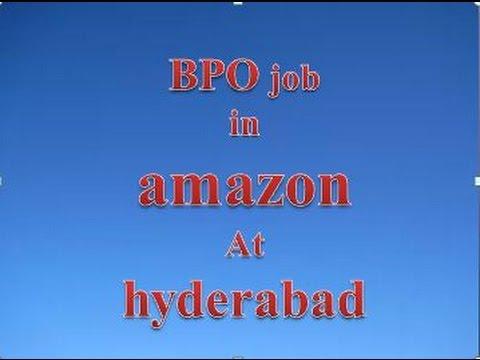 BPO job in hyderabad amazon company