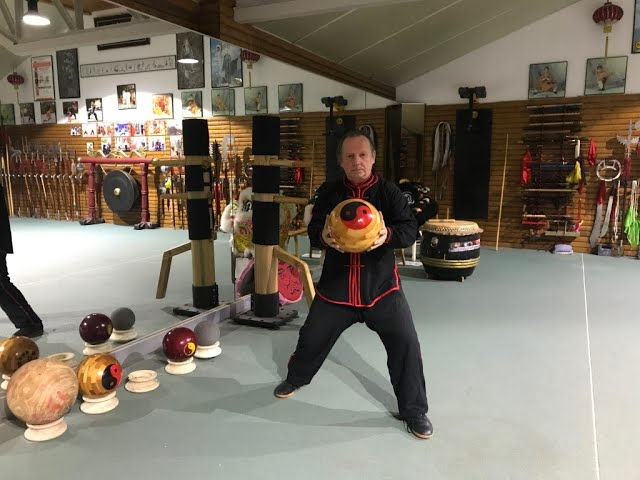 Grandmaster Walter Toch with Taiji Ball for healing & Selfdefense