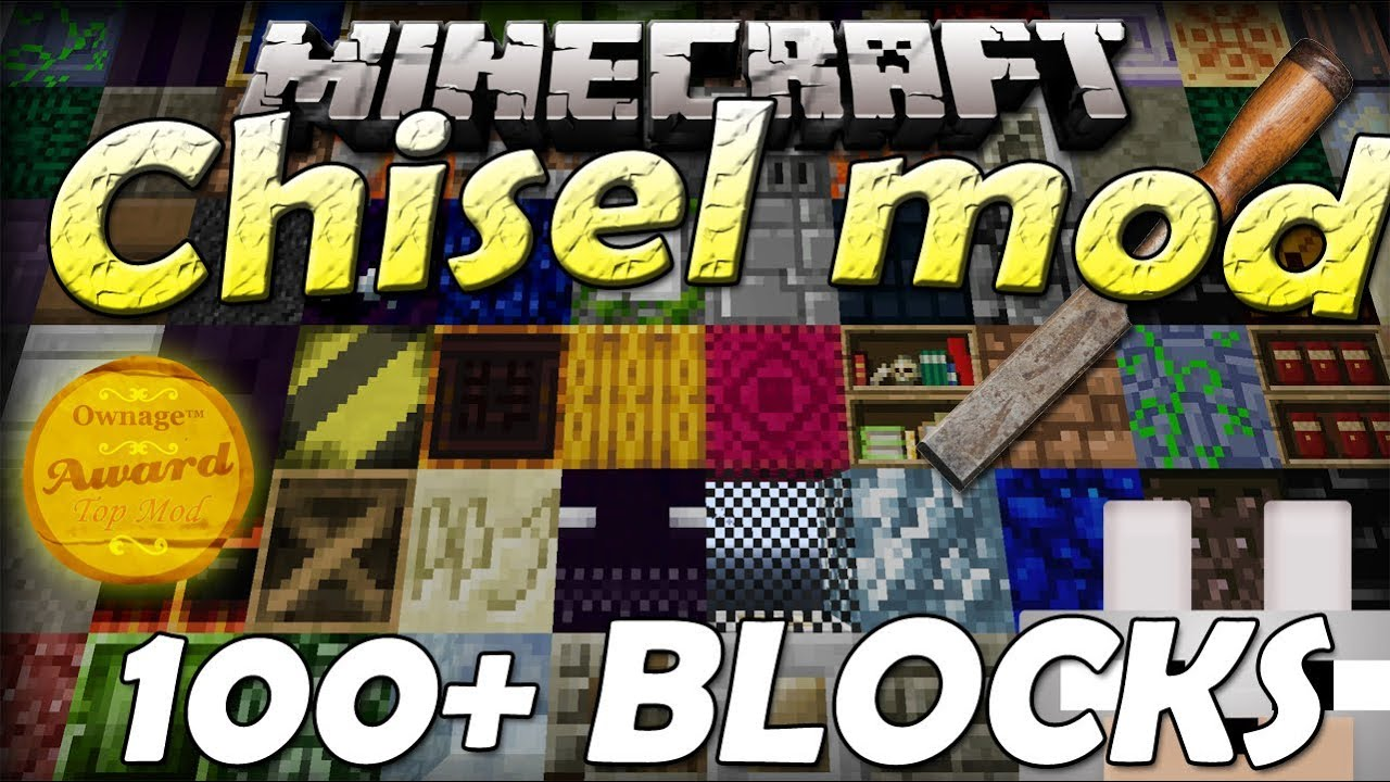 Minecraft Mods - Chisel 1 6 4 SMP 100 + BLOCKS!! (New glass, stairs, slabs,  etc!) Review and Tutorial
