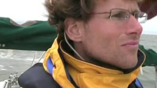 Bristol Channel Cutter: Running in Pamlico Sound Under Stays'l In 25 kts