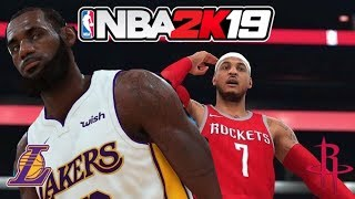 3d1ff04663d2 NBA 2K19 LOS ANGELES LAKERS VS HOUSTON ROCKETS GAMEPLAY CONCEPT FULL GAME  UPDATED ROSTERS!