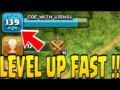 How To Level Up Fast In Clash Of Clans !!