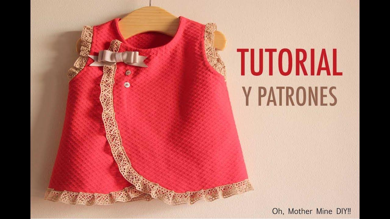 a217d9ac8c DIY Costura  vestido de bebé (patrones gratis) - YouTube