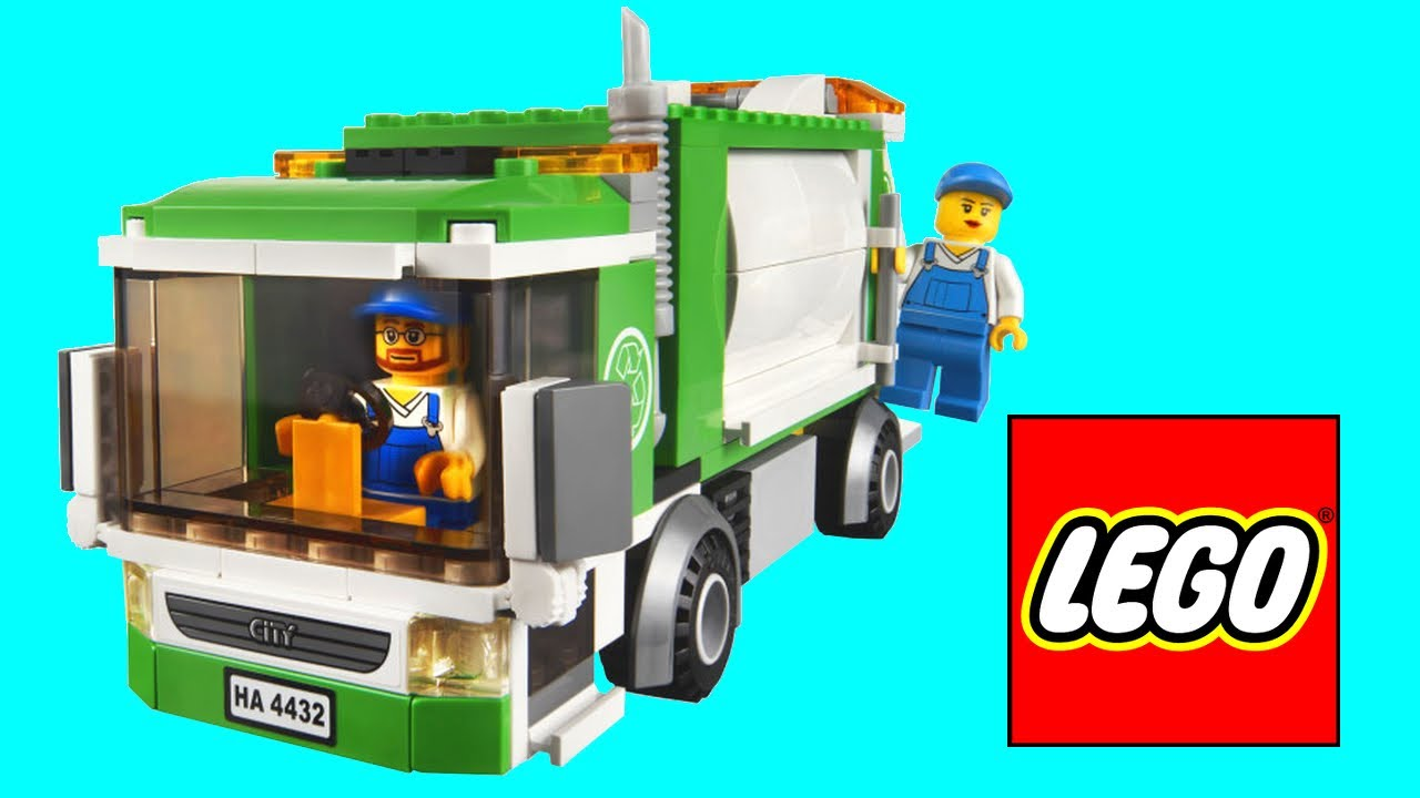Lego City Garbage Truck 4432 Review Youtube