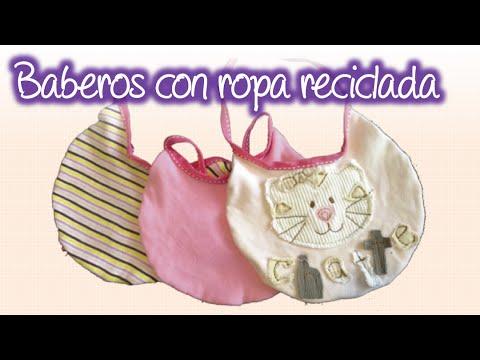 Baberos económicos con ropita reciclada , economic bibs with recycled clothing