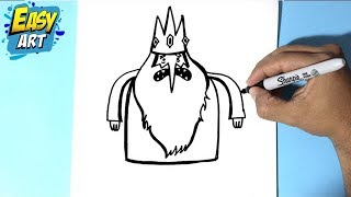 How to draw the icy King - Como dibujar al rey helado