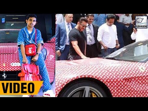 Salman Khan Checks Out The Latest Ferrari Of Dubai's Richest Kid! | LehrenTV