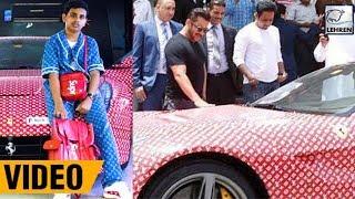 Salman Khan Checks Out The Latest Ferrari Of Dubai's Richest Kid!   LehrenTV