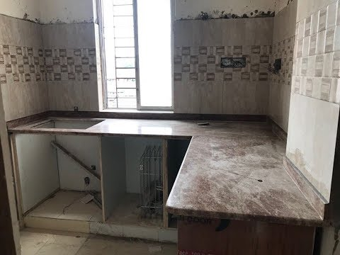 Kitchen Wall Tiles Fitting with Granite Sink | Kitchen count