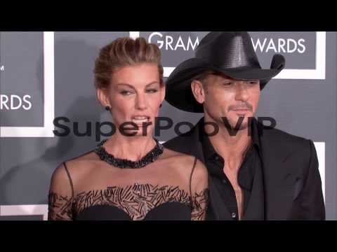 Faith Hill, Tim McGraw at The 55th Annual GRAMMY Awards -...