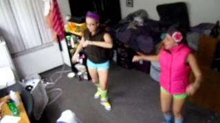 Trina long heel red bottom white girl dance