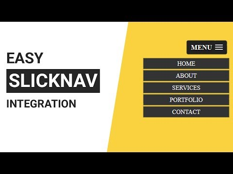 How to use slickNav in your html website | How to use slicknav mobile menu
