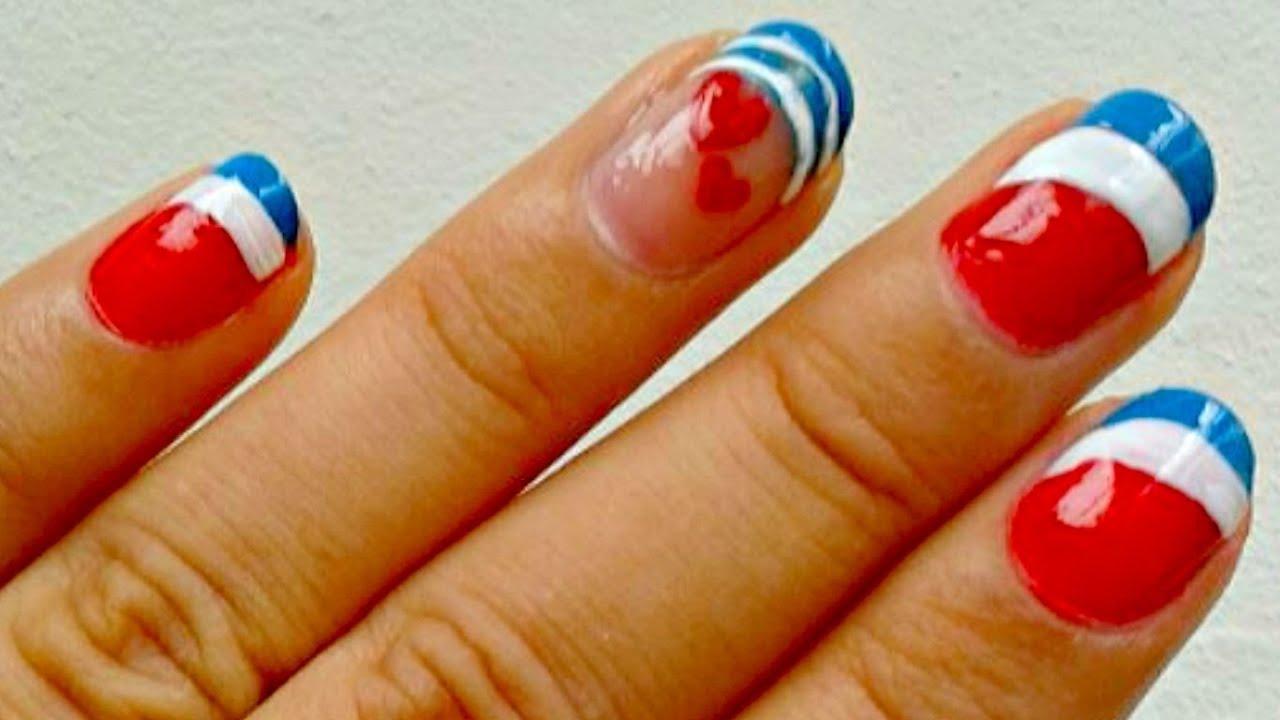 INDEPENDENCIA: Diseño de uñas Costa Rica ✿ Colaboracion - YouTube