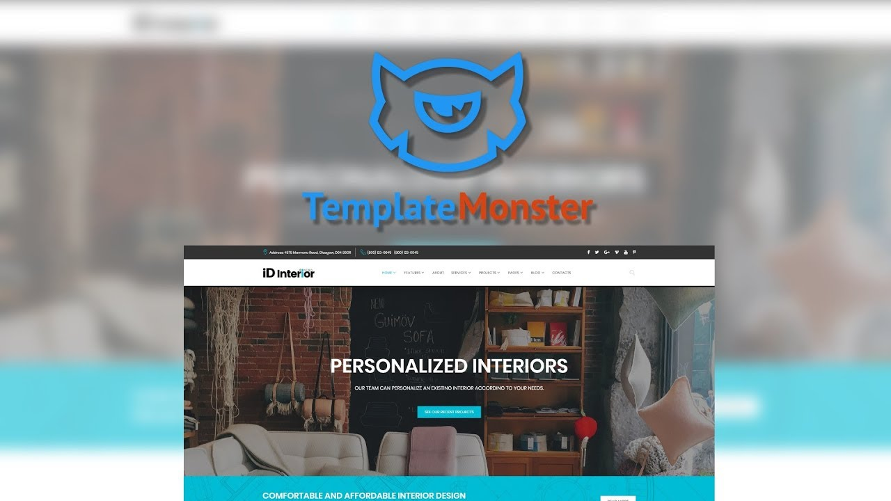 Interior Design HTML5 Website Template #66865 - YouTube