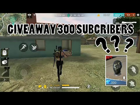 Subscriber special giveaways