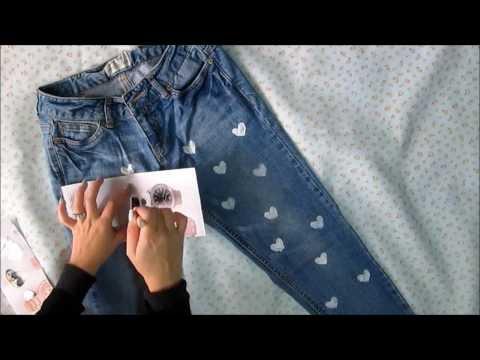 Como decorar un pantalon reciclado funnydog tv - Decorar pantalones vaqueros ...
