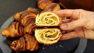 Французские КРУАССАНЫ/Слоеное дрожжевое тесто/как приготовить?