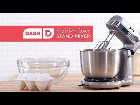Dash Stand Mixer (Electric Mixer For Everyday Use): 6 Speed Stand Mixer With 3 Qt Mixing Bowl