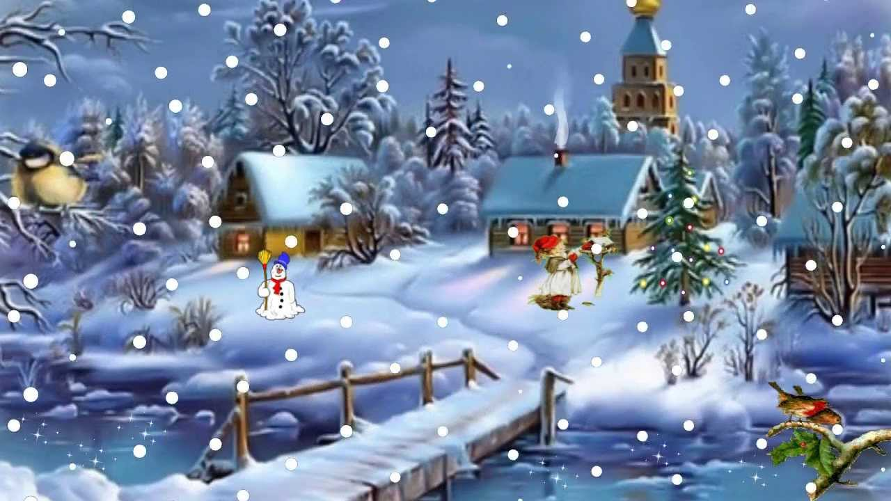 Animated Falling Snow Wallpaper Kerstanimatie Let It Snow Christmas Animation Youtube