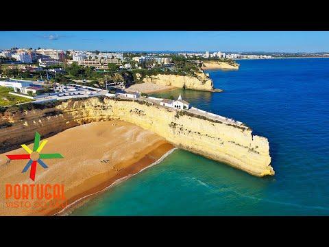 Senhora da Rocha to Armação de Pera aerial view - Algarve - 4K Ultra HD