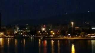 Порт Пирей (Пиреас) в Афинах, ночной паром отходит на Крит(поздний вечер 24 мая 2014 г, паром Minoan отходит из порта Пирей на Ираклио, Крит. Греция., 2014-05-27T08:42:48.000Z)