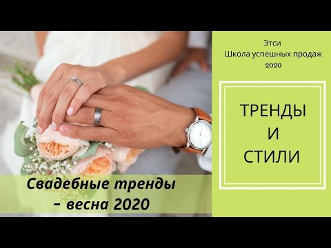 ЭТСИ 2020 - Свадебные Тренды - Весна