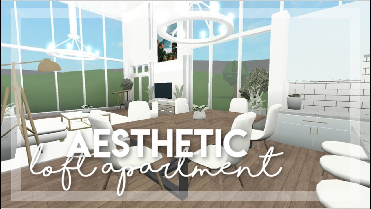 Roblox Bloxburg Aesthetic Loft Apartment Youtube